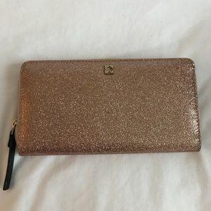 Pink sparkled Kate Spade wallet